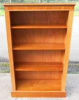 SOLD - Yew Standing Open Cabinet Bookcase